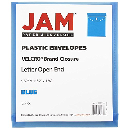 JAM Paper Plastic Expansion Envelopes with Hook & Loop Closure - Letter Open End - 9 3/4 x 11 3/4 with 1 inch Expansion - Assorted Colors - 6/Pack by JAM Paper (Image #5)