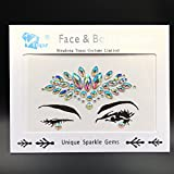 ultra gem - face gems headpiece Crystal Stickers 3d Tattoo body gems jewelry sticker for EDM ultra music party decoration