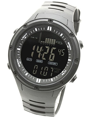 LAD WEATHER Fishing Master Watch - Fish Alarm, Storm Alarm, Altimeter, Barometer, and Weather Monitors (bkbk)