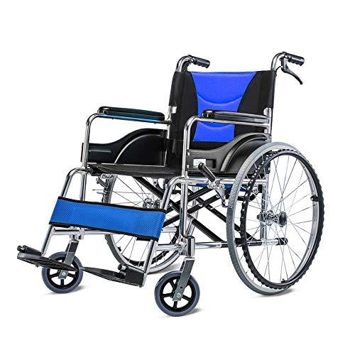 Amazon.com: Silla de ruedas ZJR, ligera, plegable, portátil ...