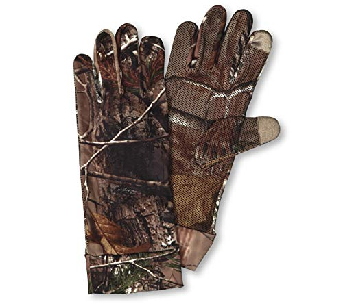 Hunters Specialties Spandex Camo - Hunters Specialties Spandex Unlined Tech Gloves, Realtree Xtra