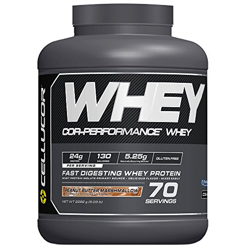 Cellucor Whey Protein Isolate & Concentrate Blend Powder with BCAA, Post Workout Recovery Drink, Gluten Free Low Carb Low Fat, Peanut Butter Marshmallow, 70 Servings