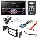 Pioneer FH-X720BT Aftermarket Car Radio Receiver Stereo CD Player Dash Install Mounting Kit + Dash Mounting Install KIt + Stereo Wire Harness+ Radio Antenna For Select Chevrolet and Pontiac Vehicles
