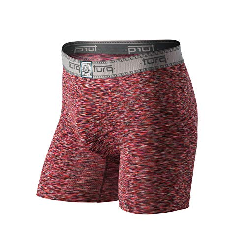 - Turq Performance Underwear for Men | Mens Underwear & Mens Boxer Briefs for Active Lifestyles and Sports (Small (28-30), Renegade - Redwood)