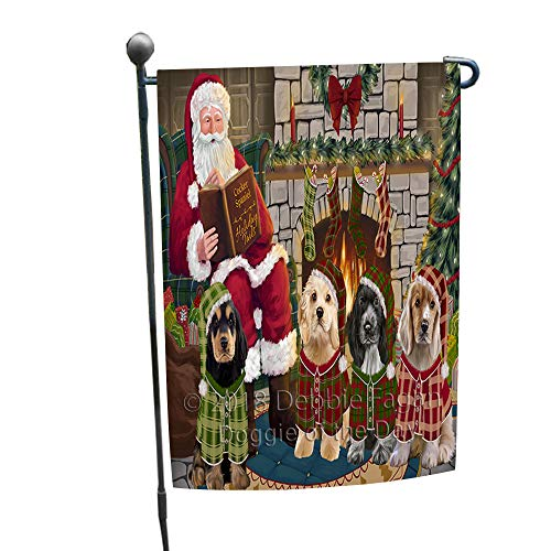 - Doggie of the Day Christmas Cozy Holiday Tails Cocker Spaniels Dog Garden Flag GFLG55412