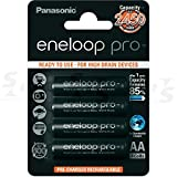 Panasonic BK-3HCCE4BE Eneloop Pro AA High Capacity Ni-MH Pre-Charged Rechargeable Batteries (Pack of 4)
