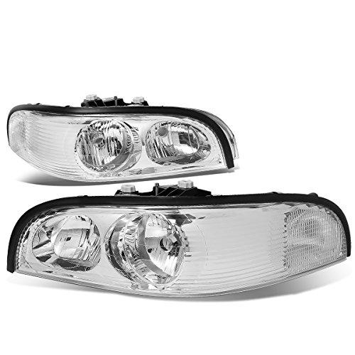 For Buick Park Avenue Chrome Housing Clear Corner Headlight/Headlamps Left+Right
