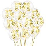 Gold Confetti Balloons - Large 18