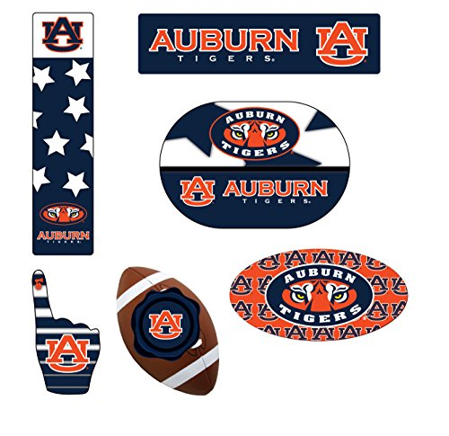 (AUBURN TIGERS MAGNET SET-AUBURN TIGERS 6 PACK OF CAR MAGNETS-AWESOME TAILGATE PACK)