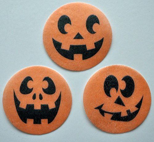 Happy Pumpkin Edible Wafer Paper Oreo Cake Pop Toppers by MAKCreationsCakeSupply ~ 30 Pre Cut Wafer Paper 1 1/2