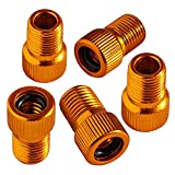 Chartsea 5PC Anodized Machined Aluminum Alloy Bicycle Bike Tire Valve Caps Dust Covers French Style Presta Valve Cap (Gold)
