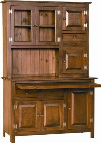 Dining Room Walnut Hutch (Pine Hoosier Hutch Cupboard (Stain- Special Walnut))