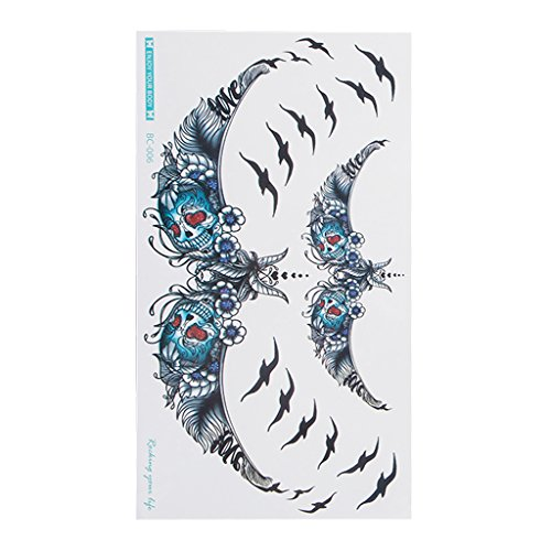 Aluoflower Sexy Waterproof Temporary Tattoos Flash Body Sternum Back Paint Flowers Stickers 6