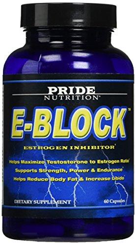 Estrogen Blocker PCT Post Cycle Therapy DIM Aromatase Inhibitor E-Block 60 Pills- Best Anti Estrogen Supplement plus Calcium-d-glucarate & Chrysin- Hormone Balance Acne Support for Men & Women