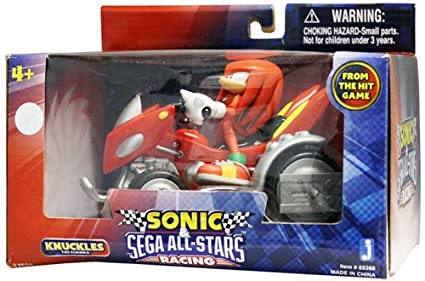 Sonic Sega AllStars Racing Vehicle with 3 5 Inch Figure Knuckles with Land  Breaker