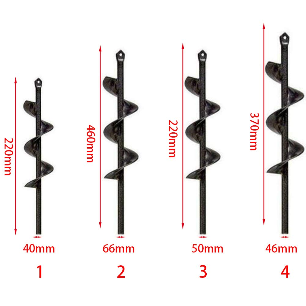 #3 Garden Spiral Drill Bit,Time Saving Electric Cordless Replacement Gardening Auger Drill Bit Farm Planting Auger Digging Tool for Planting Bedding Bulbs Seedlings