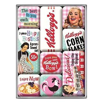 Viele Motive - Retro 9-teilig Kühlschrank-Magnet-Set American Diner
