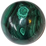 Satin Crystals Malachite Ball 1.7'' Collectible Green Precious Gemstone Sphere Therapeutic Healing Energy Stone C02