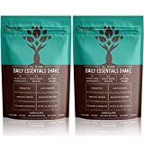 Vegan Meal Replacement Shakes by LyfeFuel - Low Carb Weight Loss Shake - Clean and Lean Plant Based Protein and Superfoods - Ideal for Vegan Keto Diet (Chocolate Powder | 2 Pack)