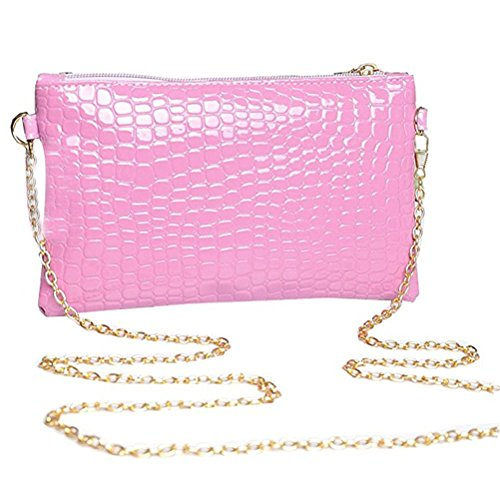 Alligator Purple Bag Shoulder Donalworld Women Pattern Chain Strap 56xzqZv
