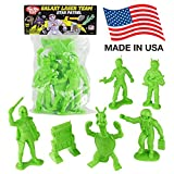TimMee Galaxy Laser Team BIG Space Figures: Bright Green 6pc Set - Made in USA