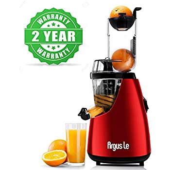 """Argus Le Cold Press Juicer, 3"""" Big Mouth Whole Slow Masticating Juicer, Easy Cleaning Slow Juicer, 75mm Wide Chute Vertical Juicer Machine"""