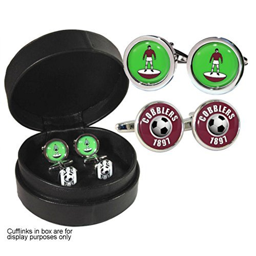 Cobblers Football and Player Set of Cufflinks in Leather Presentation Case