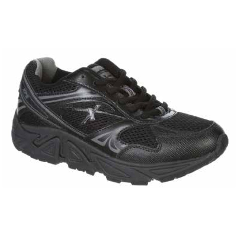 Xelero Genesis XPS Men's Comfort Therapeutic Extra Depth Athletic Shoe Leather/Mesh Lace-up B01F2O1T80 9.5 X-Wide (4E) Black Lace US Men|Black