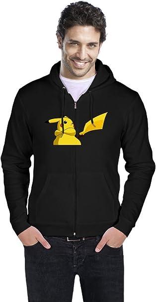 Serious Pikachu Sudadera con capucha hombres Medium: Amazon.es: Ropa y accesorios