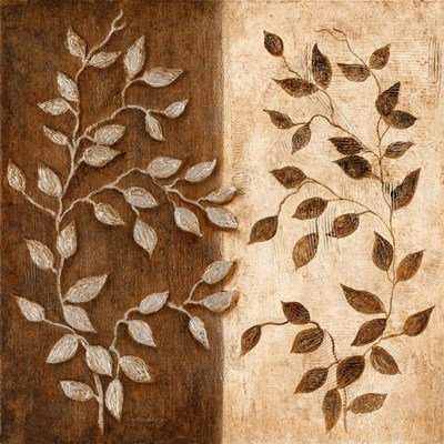 Russet Leaf Garland I by Janet Tava - 12x12 Inches - Art Print Poster