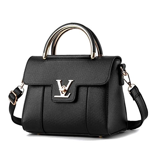 VVeda Summer New Shoulder Diagonal Small Bag Korean Fashion Handbags Messenger Female Packet(Black)