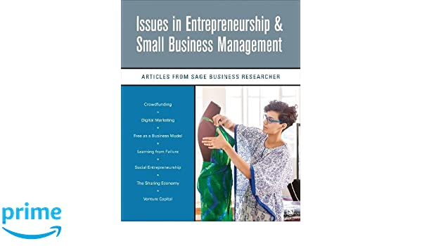 Issues In Entrepreneurship Small Business Management Articles