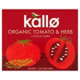 Kallo Organic Tomato & Herb Stock Cubes 66g - Pack of 6