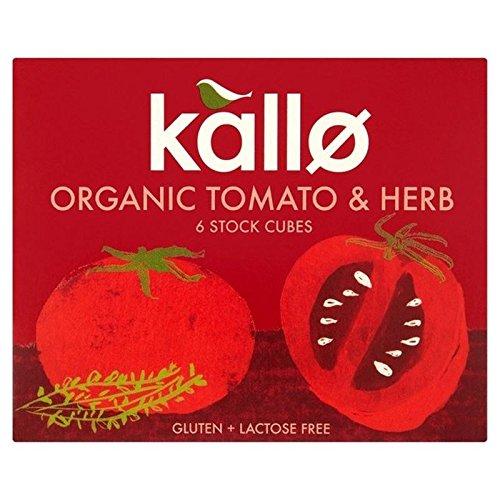 (Kallo Organic Tomato & Herb Stock Cubes 66g - Pack of 6)