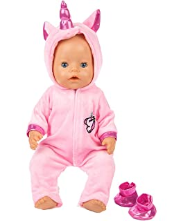 6f3ccc304 ebuddy 2pc/Set Unicorn Costume Jumpsuit Doll Clothes with Shoes for 43 cm  New Born