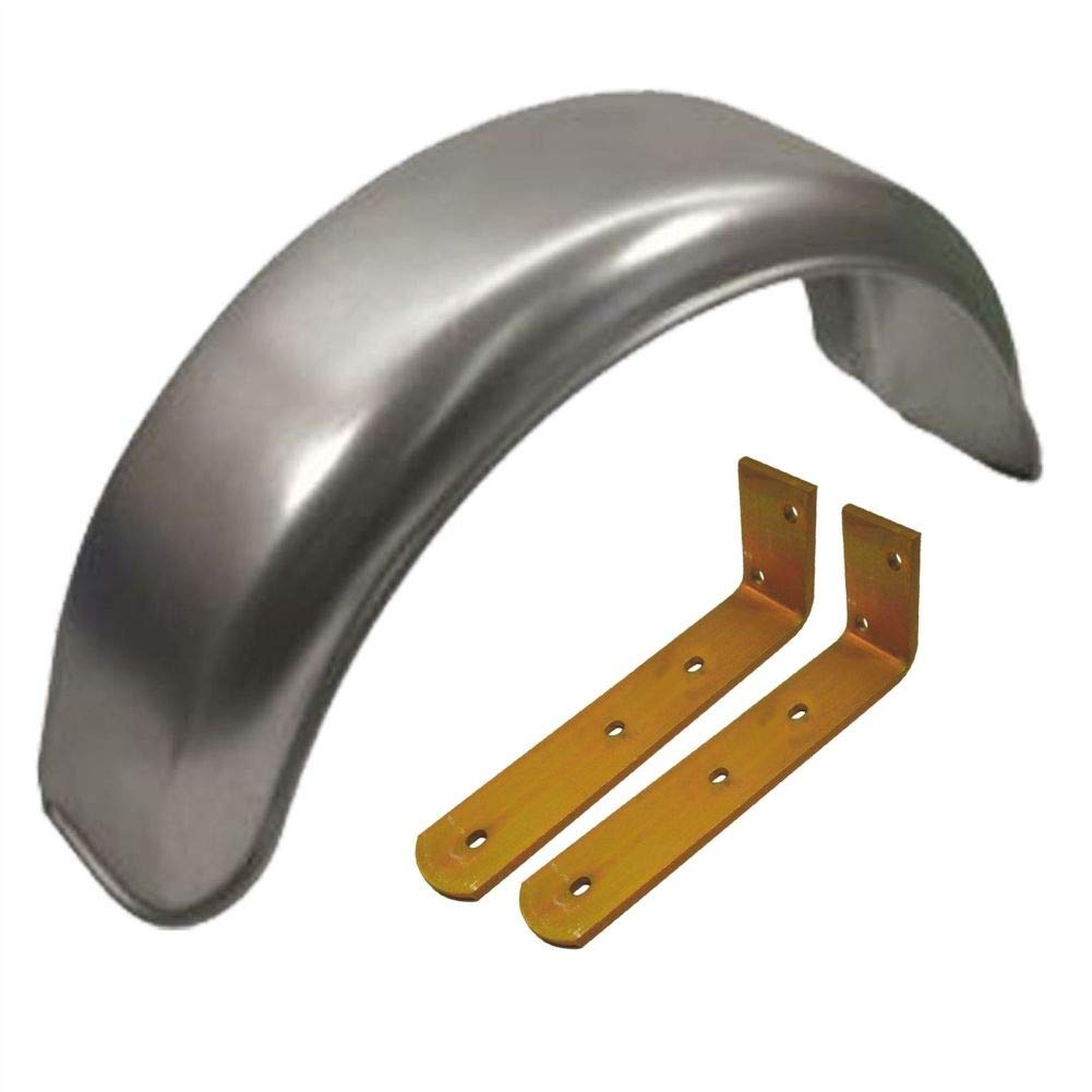 Capricornleo Parafanghi in Metallo da 20,3 cm (Singolo) Offset Fit e parafango, Staffa ad Angolo (Grande)