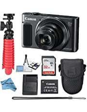 $299 » Canon Powershot SX620 (Black) Point & Shoot Digital Camera + Accessory Bundle + Inspire Digital Cloth