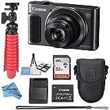 Canon Powershot SX620 (Black) Point & Shoot Digital Camera + Accessory Bundle + Inspire Digital Cloth