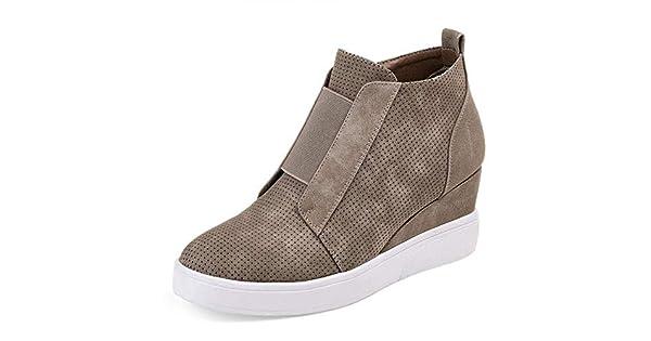 Amazon.com: Dearwen - Zapatillas de tacón para mujer, informales ...
