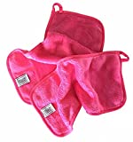 Makeup Remover Cloth Face Wash Wipes Eye Makeup Waterproof Mascara Removing Cloths Best for Facial Make Up Cleanser Microfiber Cloths, Set of 2 Gray and Pink