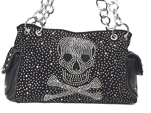 Rhinestone Skull Womens Conceal and Carry Bag