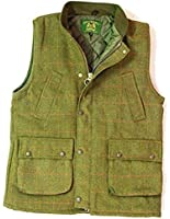 Countrywear Mens Tweed Derby Gilet British Made Outdoor Bodywarmer Quilted Waistcoat Fishing Hunting Shooting Mens Wool Branded