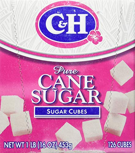 (C&H, Sugar Cubes, 126 Count, 16oz Box (Pack of 4) )