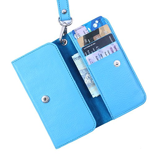 DooDa Genuine Real Leather Wallet Case Cover With Card Slots, ID Pocket & Strap For Lava Iris X1