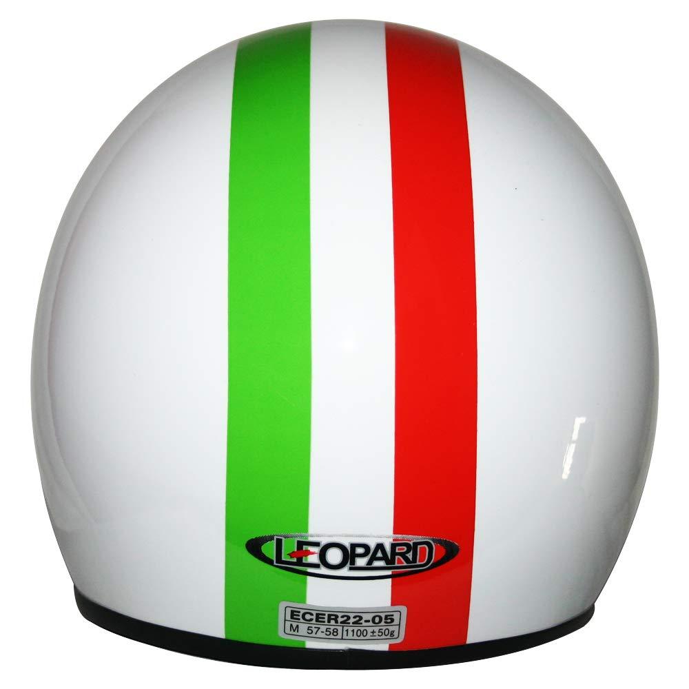 Leopard LEO-604 Casco Moto Jet Abierto Mujer y Hombre para Motocicleta Ciclomotor y Scooter Bicicleta ECE Homologado