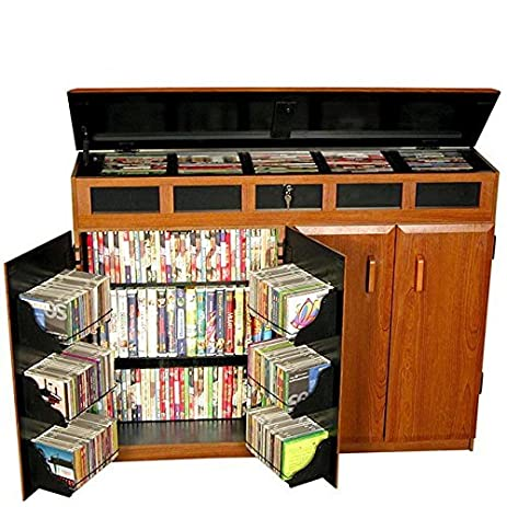 Amazon.com: Venture Horizon Top Load Media Cabinet- Cherry ...