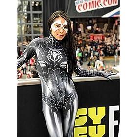 - 51SSOaMrd0L - Black Cat Cosplay Costume | Symbiote Black Cat Suit | Spider-Man Costume | Black Cat Suit