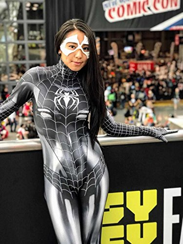 - 51SSOaMrd0L - Black Cat Cosplay Costume | Symbiote Black Cat Suit | Spider-Man Costume | Black Cat Suit