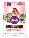 Halo Holistic Healthy Weight Dog Food for Small Breed Dogs, Grain Free Wild Salmon and Whitefish, 10 LB Bag of Small Breed Dog Food