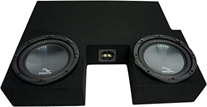 Compatible with 2007-2013 Toyota Tundra Crew Max Truck Dual 10 Sub Box Subwoofer Enclosure